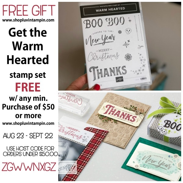 September Thank You gift for placing a min order of $50 or more Wendy Cranford www.luvinstampin.com #hostcodegift #stampinupgift #stampinuponline #thankyougift