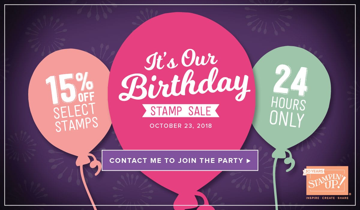 Stampin' UP! 24 Hour Sale Wendy Cranford www.luvinstampin.com