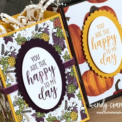 Handmade Gift Box feat. Stampin' UP!'s Country Home