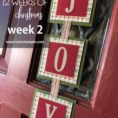12 Weeks of Christmas – Week 2 Handmade Wall Hanging
