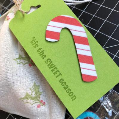 Santa Gift Bag with Candy Cane Season Bundle