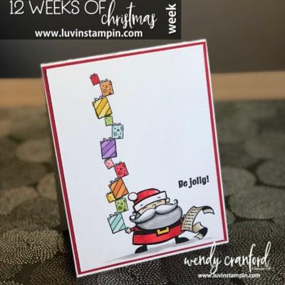 12 Weeks of Christmas – Week 1 Stacked Image Stamping