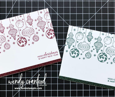 Simple Stamping Beautiful Baubles Facebook Live