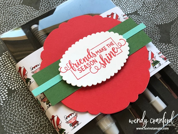 Gift for my team at OnStage in November in Orlando FL Wendy Cranford www.luvinstampin.com #teamgift #christmas