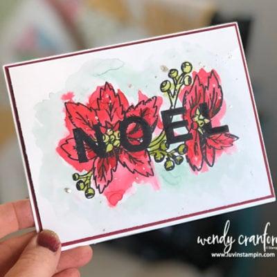 Simple Watercolor with Joy & Noel