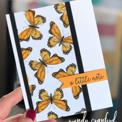 Stampin on Designer Series Paper feat. Butterfly Gala Bundle