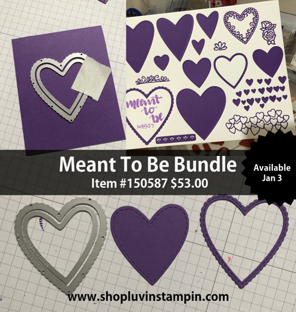 Create a beautiful card using #simplestamping and Meant To Be Bundle from Stampin' UP! Wendy Cranford luvinstampin.com #simplecard #valentinescard #cardmaking #handmadecard