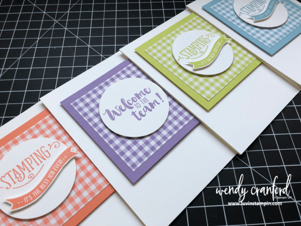 Super simple stamping featuring the new Gingham Designer Series Paper stack from the 2019 Stampin' UP! Occasions Catalog Wendy Cranford luvinstampin.com #stampinup #2019occasionscatalog #simplestamping