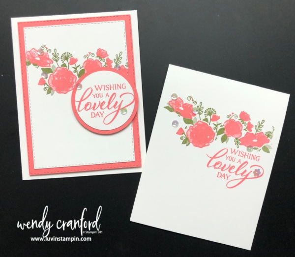 Forever Lovely bundle from Stampin' UP! Wendy Cranford luvinstampin.com #simplestamping #foreverlovely #create #cardmaking #stampinup #luvinstampin
