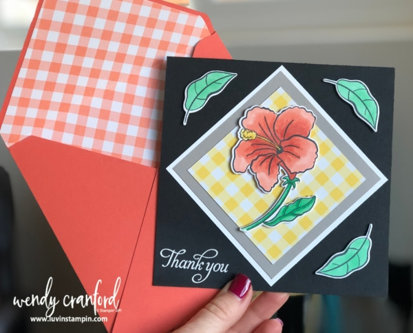 Create incredible thank you and birthday cards with the new Humming Along Bundle from Stampin' UP! Wendy Cranford www.luvinstampin.com #hummingalongbundle #stampinup #luvinstampin #thankyoucard #birthdaycard #floralcards