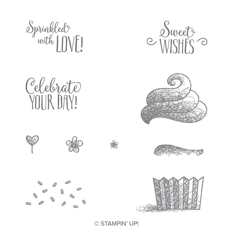 Hello Cupcake stamp set free with a $50 order Wendy Cranford luvinstampin.com #luvinstampin #stampinup #crafts #saleabration #create #cardmaking #handmade