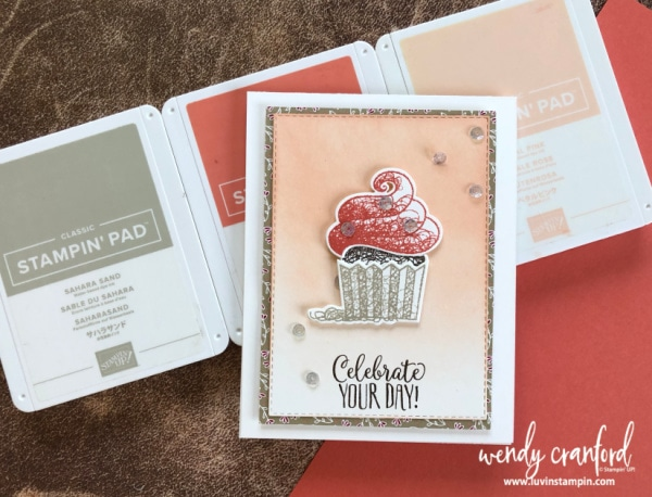 Hello Cupcake stamp set free with a $50 order Wendy Cranford luvinstampin.com #luvinstampin #stampinup #crafts #saleabration #create #cardmaking #handmade