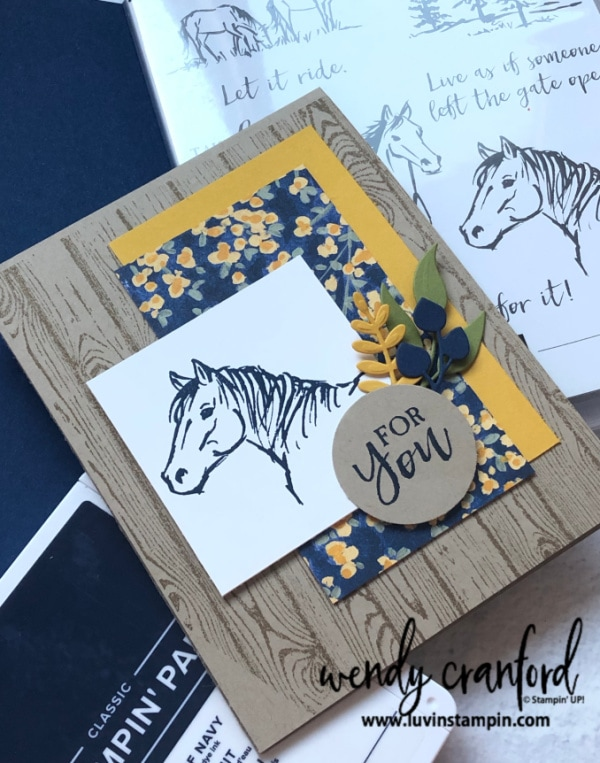 Let It Ride stamp set from Stampin' UP! Wendy Cranford luvinstampin.com #luvinstampin #stampinup #craft #create #handmade #cardmaking