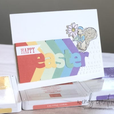 Alphabet Layering Easter Card