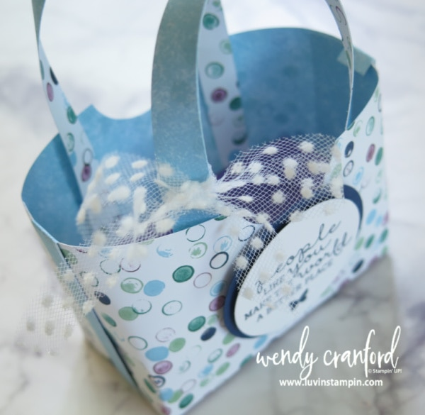 How to create a tiny box bag for someone you love Wendy Cranford www.luvinstampin.com #luvinstampin #stampinup