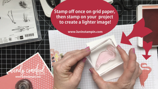 Stampin' UP! Fabulous Flaming is great for second generation stamping. It's a simple technique to take your stamping to a new level. Luvin Stampin Wendy Cranford www.luvinstampin.com #stampinup #stampingtechnique