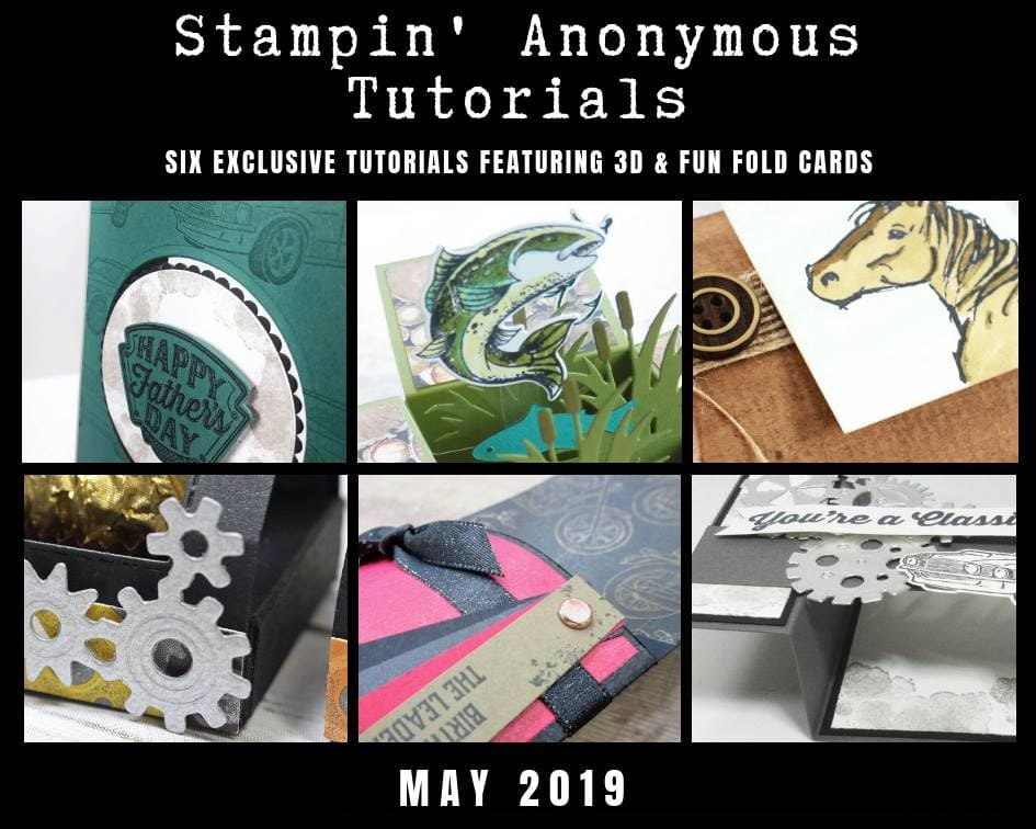Stampin' Anonymous Tutorial Bundles. All masculine projects for the favorite guy in your life. Wendy Cranford www.luvinstampin.com