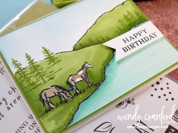 Let it Ride stamp set from Stampin' UP! using the Stampin Blends Markers Wendy Cranford www.luvinstampin.com