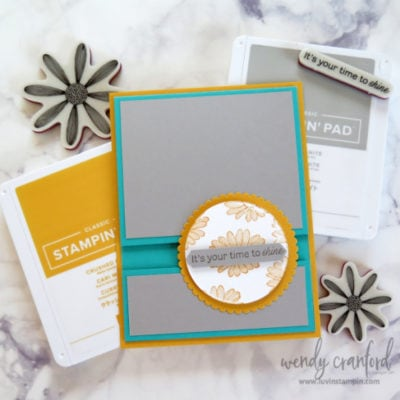 A Fun Fold Card feat Daisy Lane