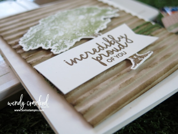 Manly card and gift with the Rooted in Nature bundle from Stampin'  UP! Wendy Cranford www.luvinstampin.com