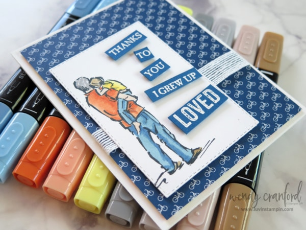 New A Good Man stamp set from Stampin' UP! in the 2019-2020 Stampin' UP! Catalog Wendy Cranford www.luvinstampin.com