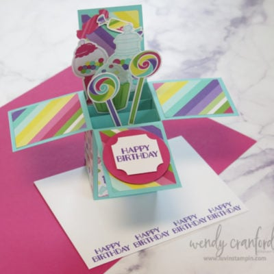 Pop Up Box Card feat. Stampin' UP! Sweetest Thing Suite