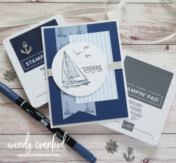 Stampin' UP!'s Sail Away stamp set is great for masculine card making Wendy Cranford www.luvinstampin.com