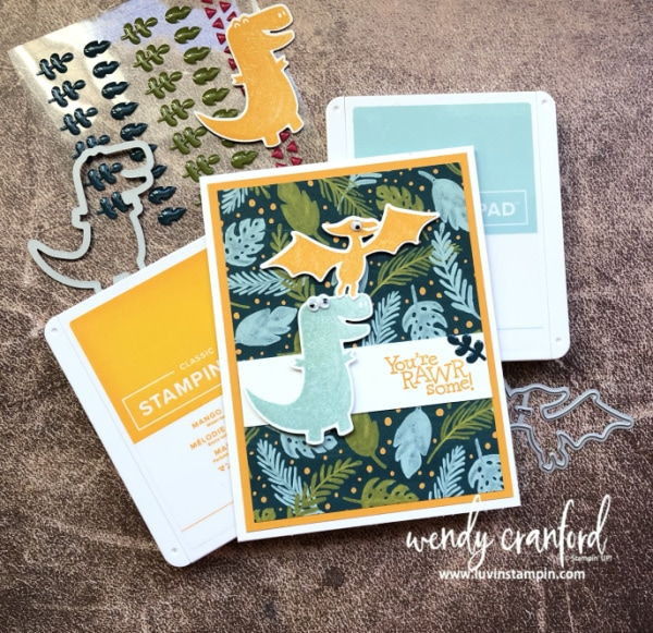 Dino Days Bundle from Stampin' UP! Wendy Cranford www.luvinstampin.com