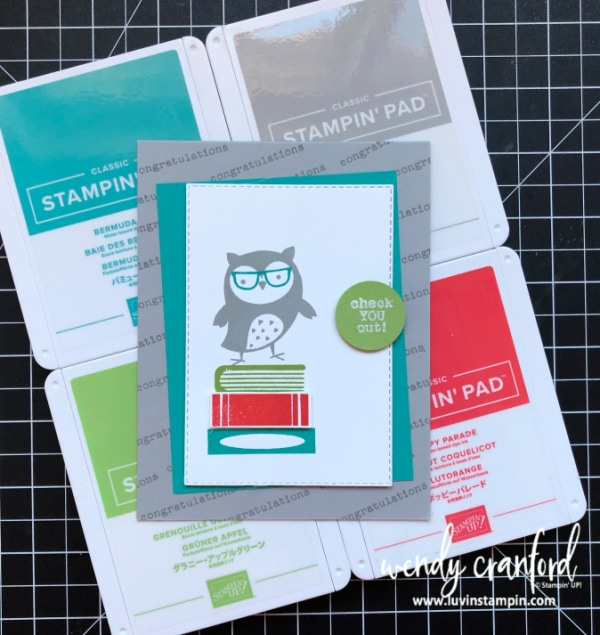 Stampin' UP! Check You Out stamp set from the new annual catalog is adorable Wendy Cranford www.luvinstampin.com #stampinup #luvinstampin #congratulationscard #cardmaking