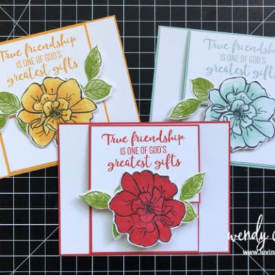 Fun Fold Cards using Stampin' UP! To A Wild Rose