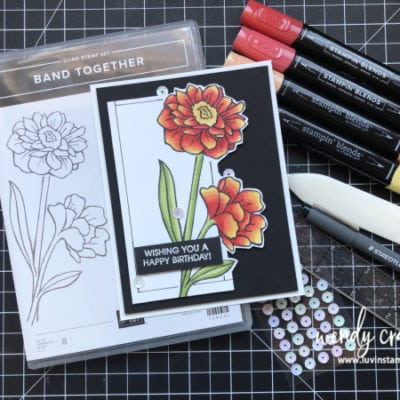 Fussy Cut Florals featuring Stampin' UP! Band Together
