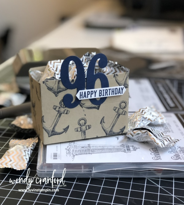 Table decorations for 96th birthday party #luvinstampin #birthdaydecor #stampinup #birthdayfavor