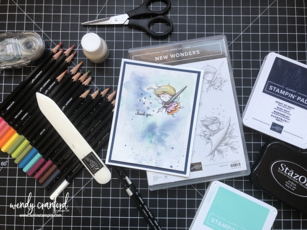 Stampin' UP! New Wonders Watercolor Card