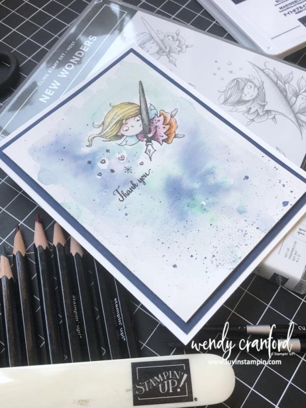 Stampin' UP! New Wonders Watercolor Card