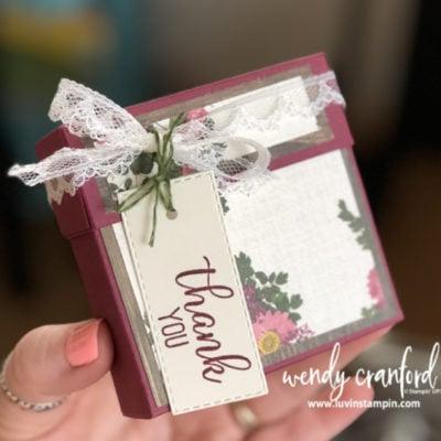 Note Card Box featuring Pressed Petals Designer Paper