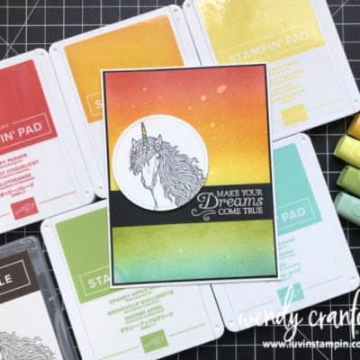 Ink Blended Background with Stampin' UP! Leave A Little Sparkle & Stampin' Anonymous Tutorial Bundle