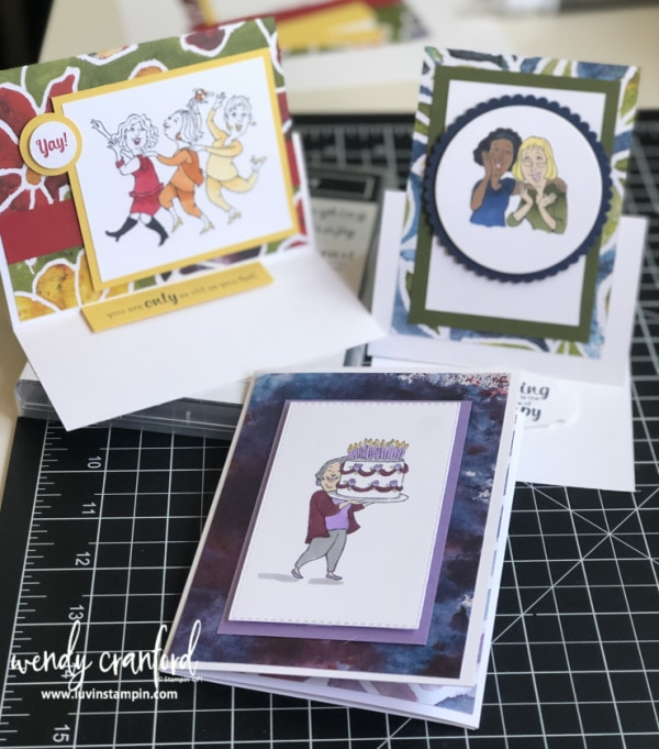 Young At Heart fun fold cards Free video tutorials.