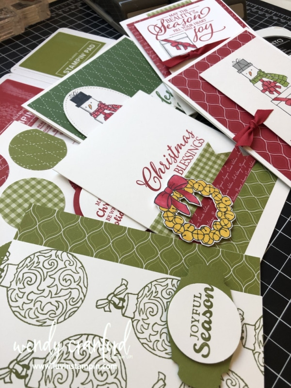 Christmas in August online card class featuring Stampin' UP! Lots of Cheer stamp set. #luvinstampin #christmascards