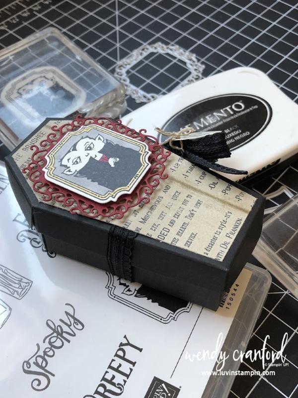 Creepy Coffin Box Stampin' UP!  #luvinstampin #stampinup