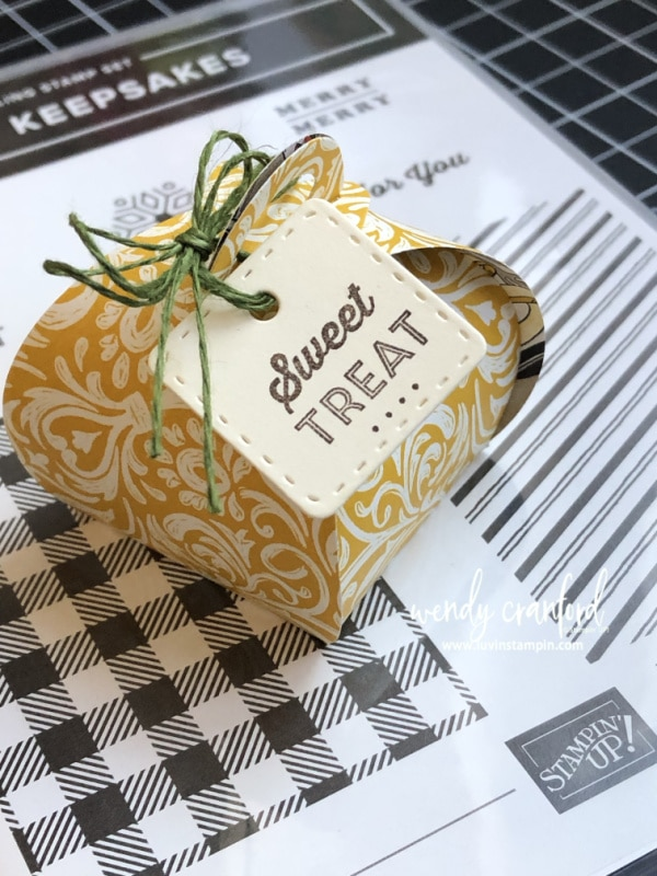 Stampin' UP! Mini Curvy Keepsake bundle from 2019 Stampin' UP Holiday catlaog