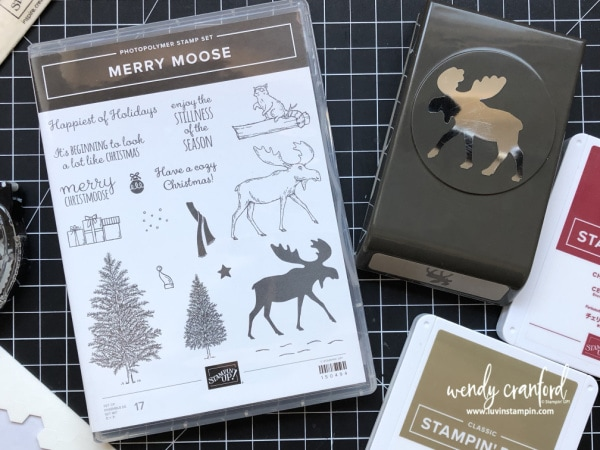 Create fun and cute Christmas gifts for your crafting friends using Stampin' UP! Merry Moose stamp set. #luvinstampin #stampinup #crafts #christmas #christmashandmade