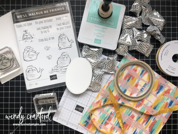 Stampin' UP! We'll Walrus Be Friends stamp set is perfect for creating birthday cards and gifts.