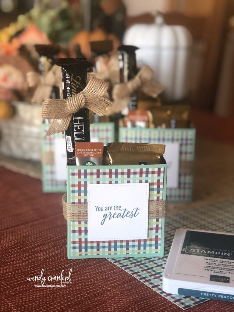 Handmade fall gift box #luvinstampin #stampinup #fall
