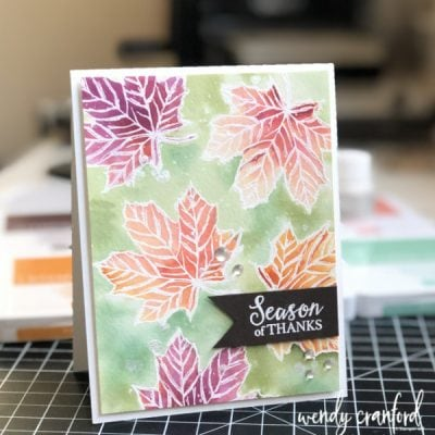 Watercoloring Fall Leaves with Stampin' UP! Ink