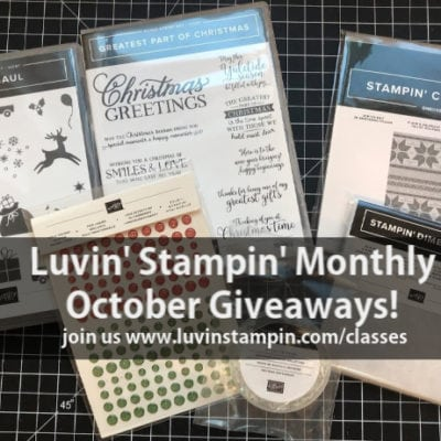 Card Set Gift Box | Luvin' Stampin' Monthly