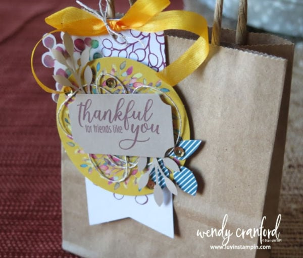 Thanksgiving gift using the Paper Pumpkin kit from Stampin' UP! #luvinstampin #stampinup #thanksgiving #fallcrafts