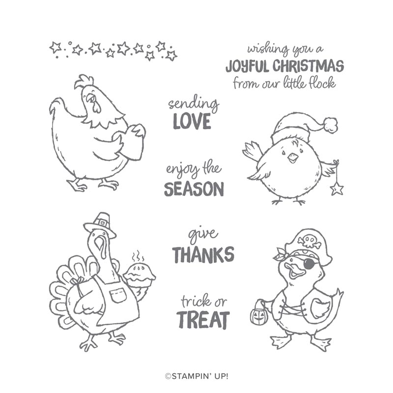 Birds of a Feather from Stampin' UP! #luvinstampin #thanksgivingtreat