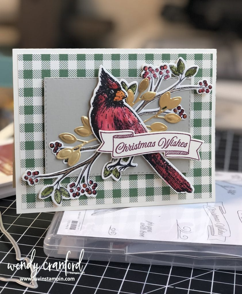 Makes a beautiful Christmas card!   #stampinup #luvinstampin