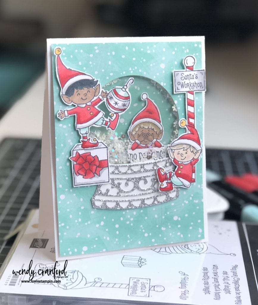 stamp set makes adorable shaker cards #luvinstampin #stampinup