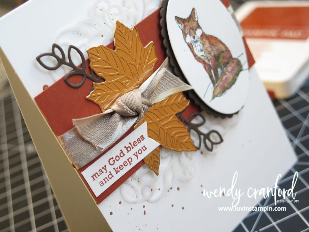 Watercolor fox card using the Nature's Beauty stamp set from Stampin' UP! Wendy Cranford www.shopluvinstampin.com #stampinup #luvinstampin #watercolor